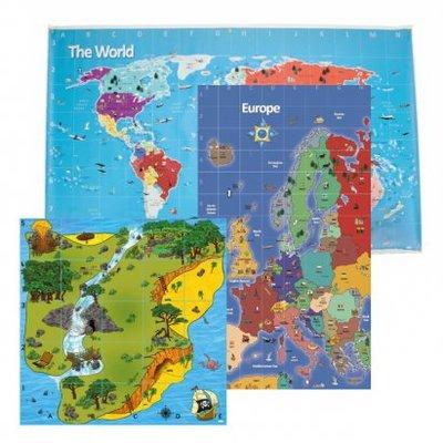 Klassenset geografie matten voor Bee-bot / Blue-Bot